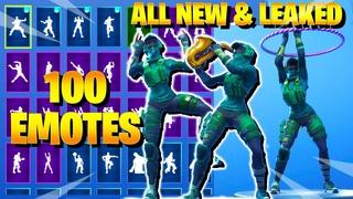 *NEW* Fortnite INSTINCT Skin Dance with 100 Emotes (including Hoop Master, Scenario, Breezy, Conga)