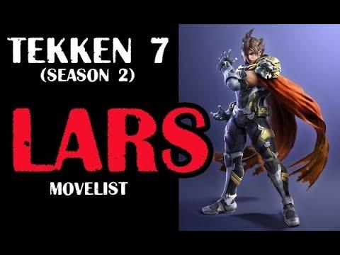 TEKKEN 7 LARS Video Movelist (season 2)