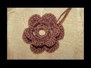 Маленький цветок для коричневого платья. Ирландское кружево.