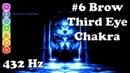 Ultimate Chakra - 6 Brow/Ajna/Third Eye 432 Hz - Tuning, Balancing