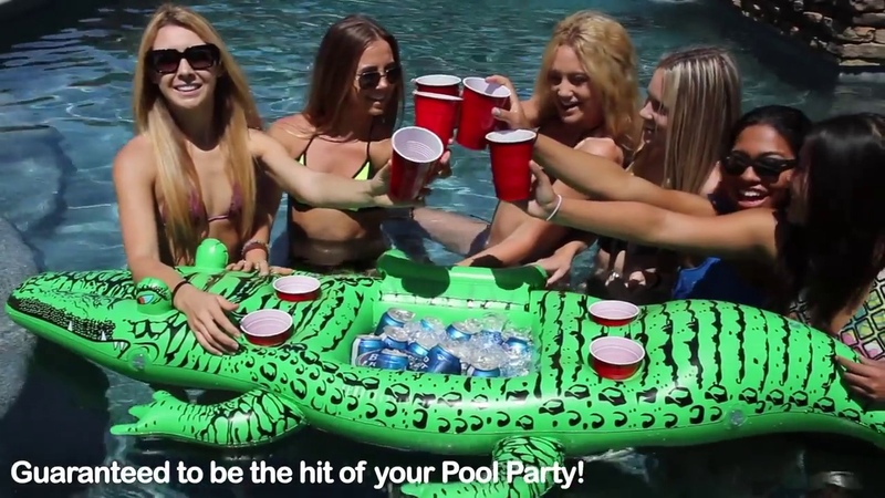 Party Gator - Giant Floating Alligator with Cooler and Cup Holders