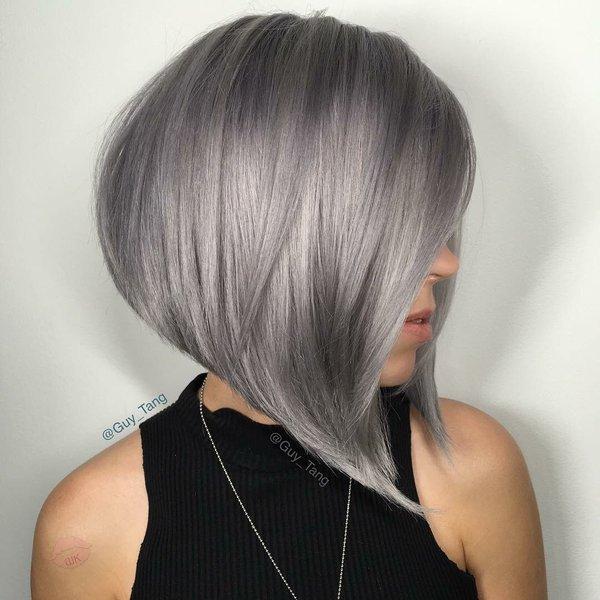 Каре и пепельный цвет волос