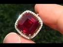 Certified Estate Natural Red Ruby Diamond 14k Yellow Gold Cocktail Ring A141719