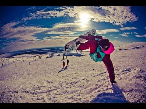 Невероятные трюки на сноуборде