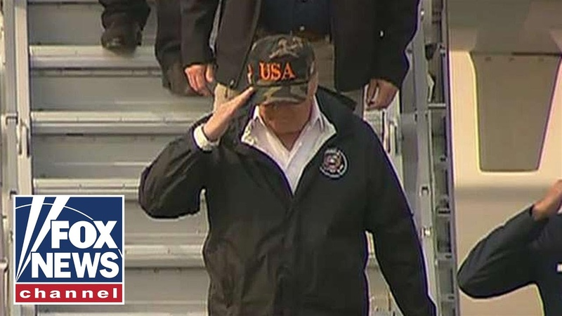 Trump arrives in California to survey wildfire damage