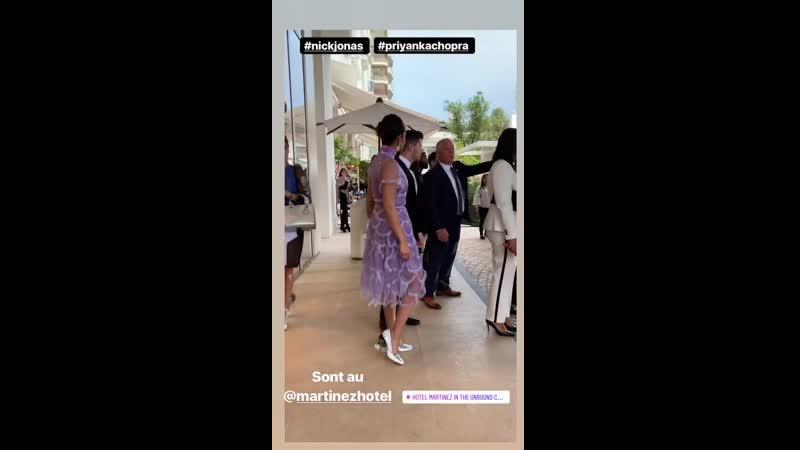 Nick Jonas and Priyanka Chopra in Cannes, France via slpcannesphotos instagram story. [517]