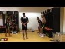 Танцы в раздевалке сборной Бразилии 2016 год