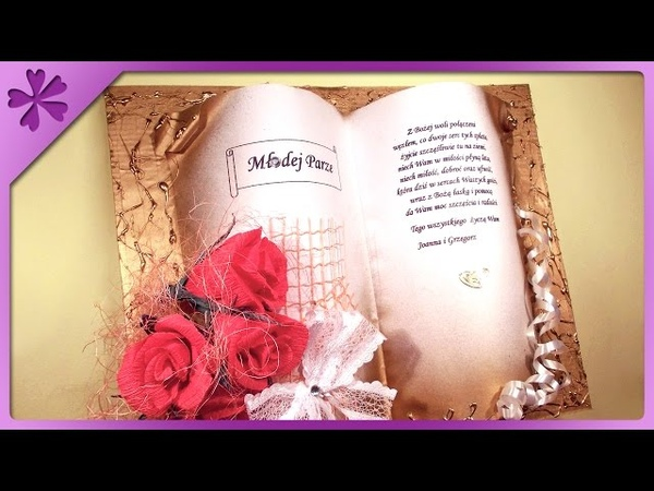 DIY Commemorative book, gift for wedding, communion (ENG Subtitles) - Speed up 17