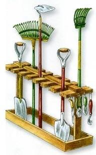 Вешалка для садового инвентаря своими руками