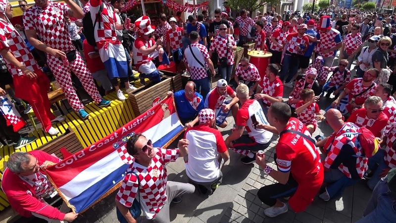 Перед игрой Аргентина - Хорватия в Нижнем Новгороде 4K Часть 01