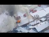 Пожар на улице Рахова