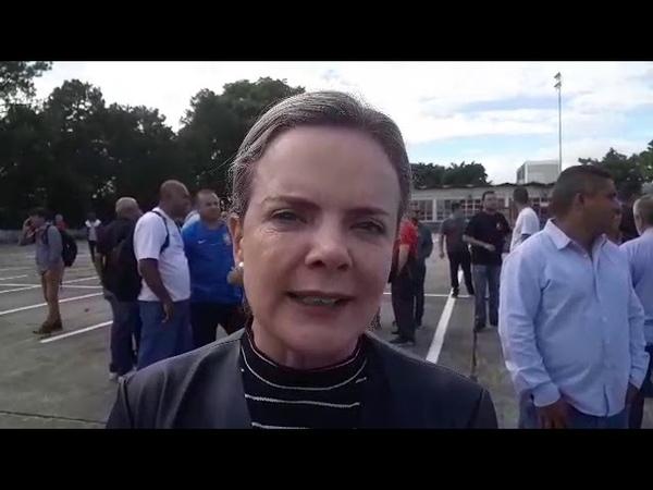 Gleisi Hoffmann comenta a prisão dos PMs suspeitos de envolvimento na morte da Marielle