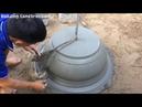 Primitive Construction Technology Build Concrete Pot Extreme Simple