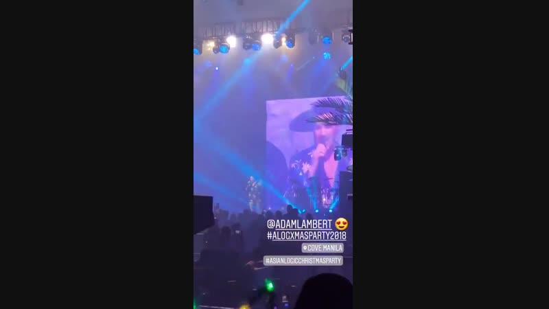 Adam Lambert at private event in Manila - Whole Lotta Love We Are the Champions - 09/12/2018