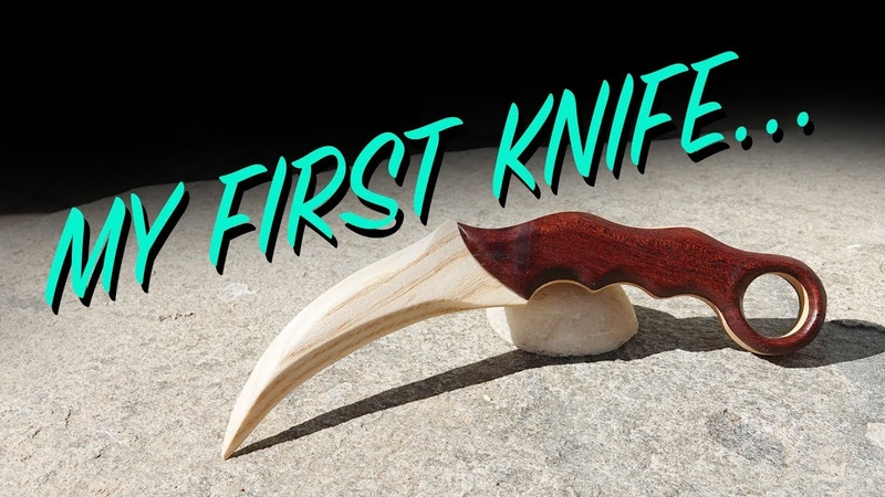 My First Knife Wooden Karambit Build Video
