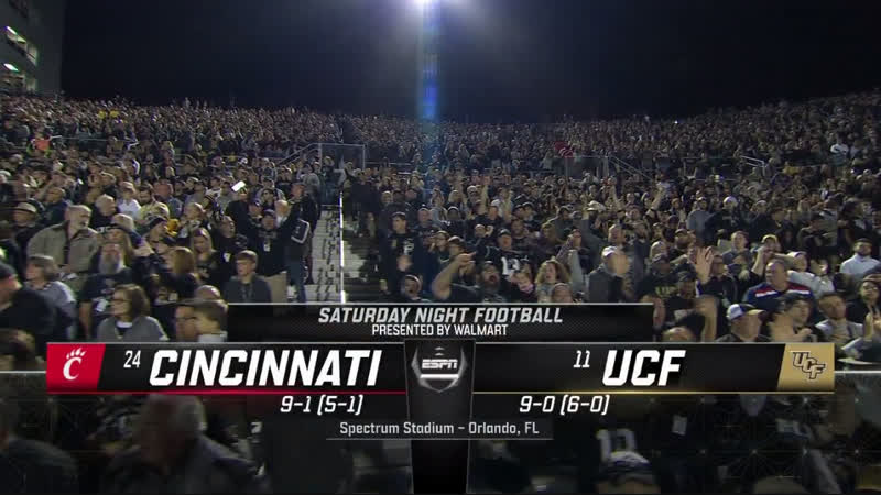 NCAAF 2018 / Week 12 / (24) Cincinnati Bearcats - (11) UCF Knights / 1H / EN