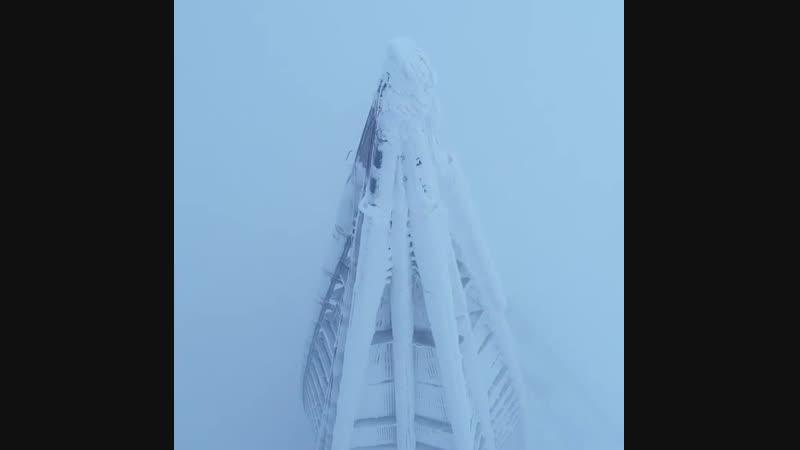 Лахта Центр с высоты птичьего полёта