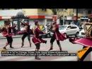 Как танцоры в грузинских национальных костюмах развлекали прохожих