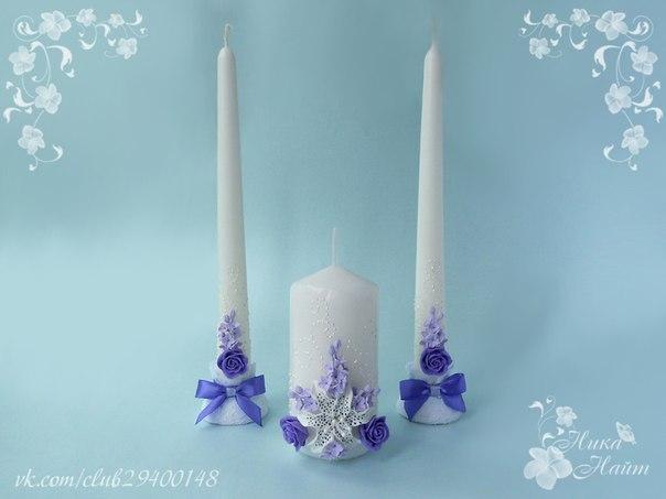 Как украсить своими руками свечи на свадьбу