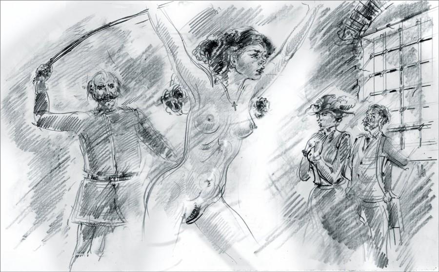 такие порка женщин рисунки порно фото