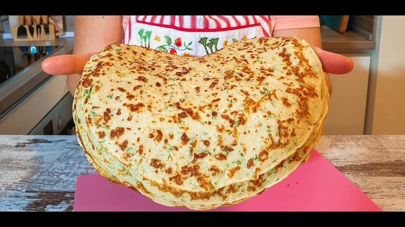 Лепешки сырные за 10 минут на сковороде! Вы забудете про хлеб - Невероятно Вкусно!