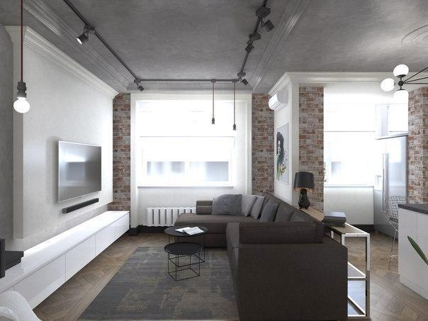 дизайн однокомнатной квартиры 36 кв.м фото хрущевка