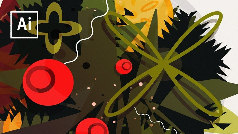 Experimenting With Abstract Art In Illustrator - Process Timelapse
