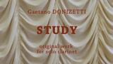 Gaetano DONIZETTI. STUDY for solo clarinet