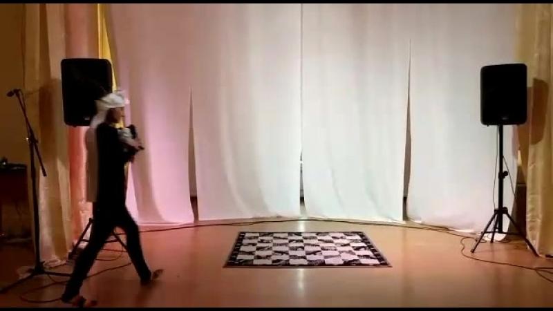 Репетиция спектакля-эскиза «Яшка» в Томском краеведческом музее для Ночи в музее-2018