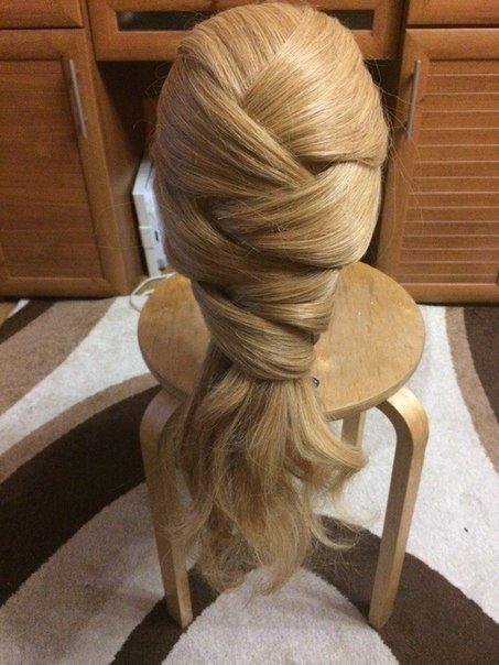 Причёска с переплётами