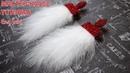Серьги с перьями с верхом из хрустальных бусин / Earrings Made of Feathers and Crystal Beads DIY