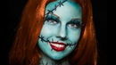 ✅ Nightmare Before Christmas Sally Halloween Makeup Tutorial (NO face paint needed!)