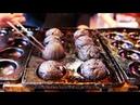 Japanese Street Food - NINJA TAKOYAKI Black Octopus Balls Osaka Japan