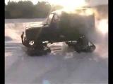 УАЗ -  Тест -  На гусеницах !   ( самоделках! )))