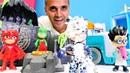 Pijamaskeliler oyuncak videoları. Romeo Kedi çocuğu üşütüyor