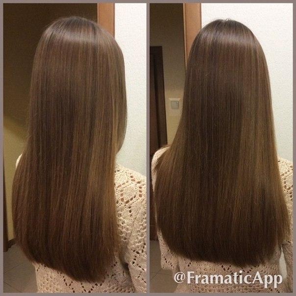 Волосы прямой срез