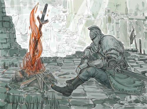 Dark Souls fan-art WLBwWazzX58
