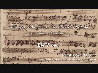 660 J. S. Bach – Chorale prelude