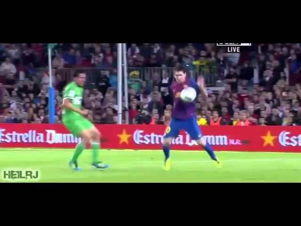 Lionel Messi Amazing Ball Control vs Racing Santander 15 10 2011