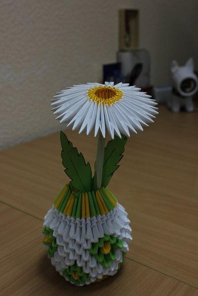 Как сделать вазу из бумажных модулей