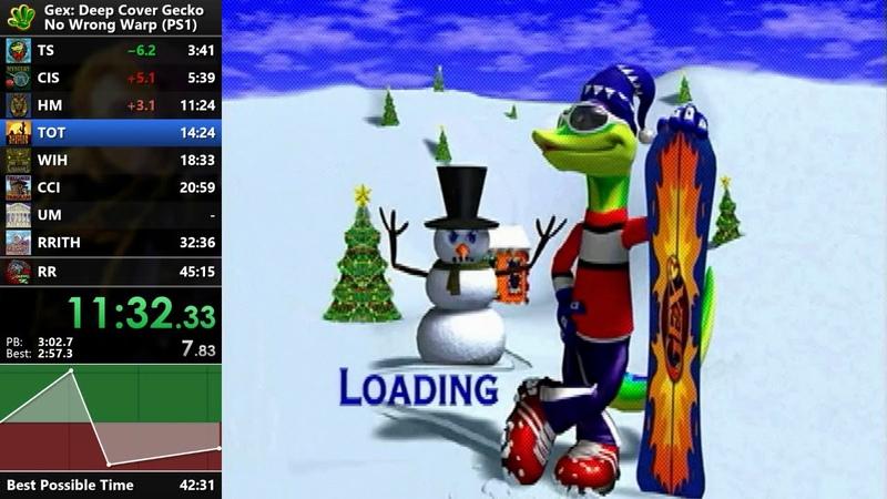 Gex 3: Deep Cover Gecko - No WW Speedrun - 42:58 [WR]