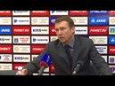 Послематчевая пресс конференция В Евсеева и А Талалаева