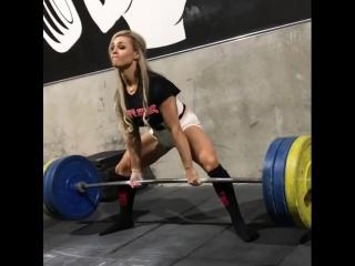 Стеф Санзо тяга 130 кг