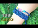 Combine 2 into 1 with this macrame bracelet pattern The double lattice