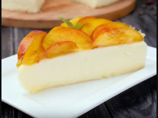 Торт-суфле с персиками   Больше рецептов в группе Десертомания