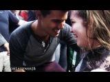 Виктория Кристина (15 лет) и Тейлор Лотнер в Бразилии (промо фильма Рассвет ,2012 год)