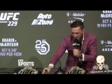 Пресс конференция Хабиб Конор UFC 229