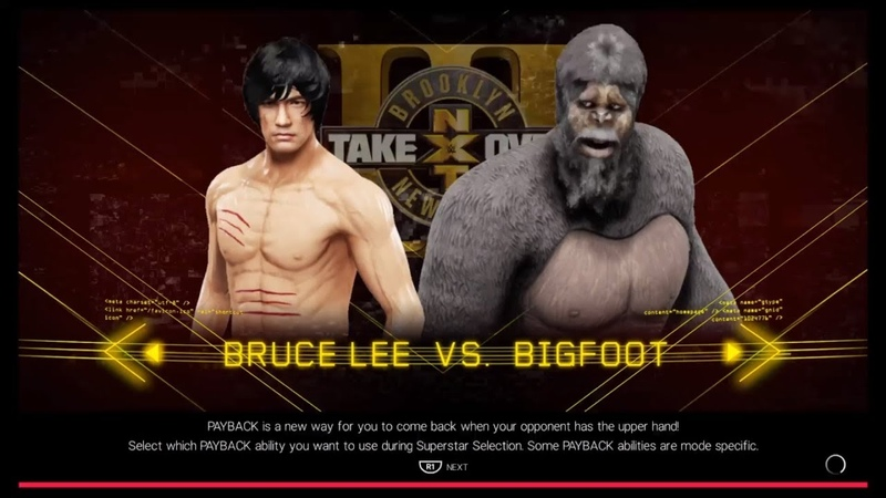 Bruce Lee vs. Bigfoot WWE 2k19 CPU vs. CPU