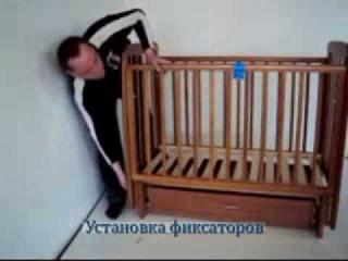 Сборка кроватки Верес с ящиком и маятником- mamindom.ua