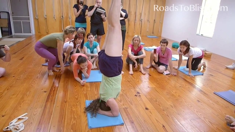 Part 2 Salamba Sirsasana (new version) with Lois Steinberg, Iyengar Yoga Teacher